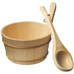 Sauna Bucket and Ladle